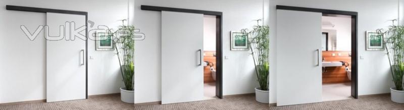 Puerta corredera colgada materiales de construcci n para la reparaci n - Montar puerta corredera ...