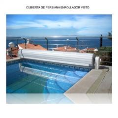 Cubierta flotante de piscina, lamas de pvc, excelente ahorro t�rmico y seguridad frente a ca�das accidentales. ...