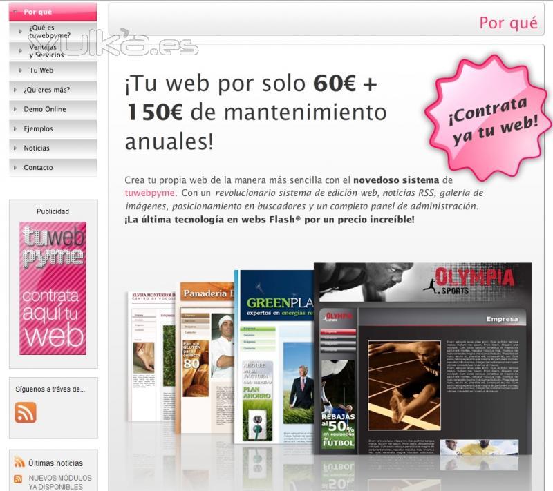 Web a un precio muy especial