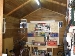 Interior caseta madera