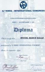 6º congreso kmsg. porto (portugal). septiembre 1999.