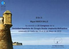 Congreso sociedad española de cirugía ocular implanto-refractiva. cádiz. mayo 2010.