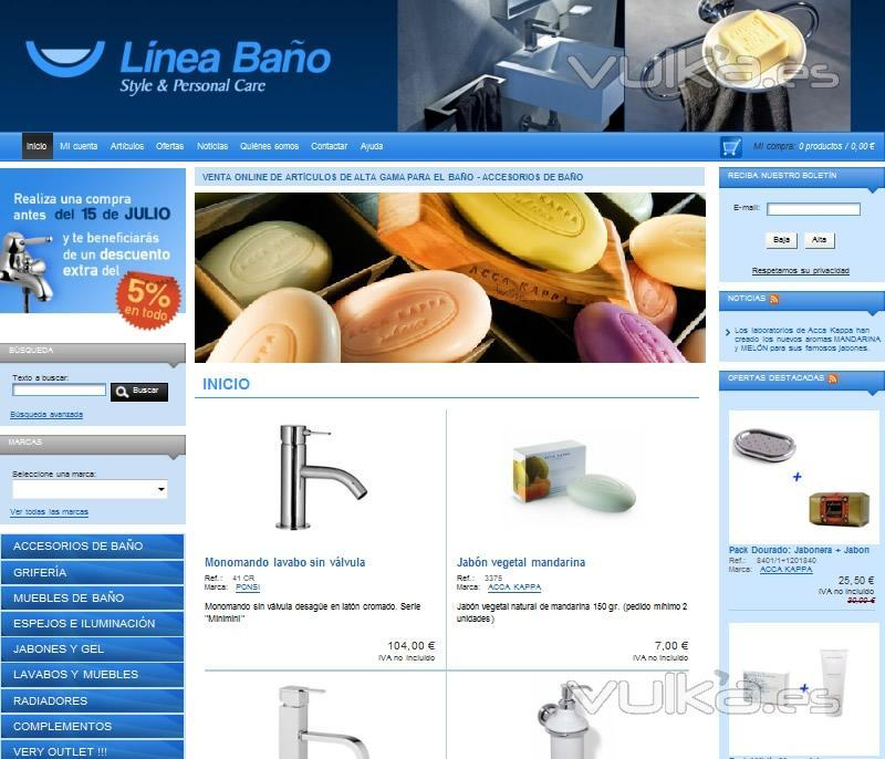 Foto tienda online de venta de ba os jabones gel - Radiadores de gel ...