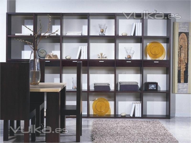 Foto estanteria qa madera maciza mas de modelos - Estanterias de madera para libros ...