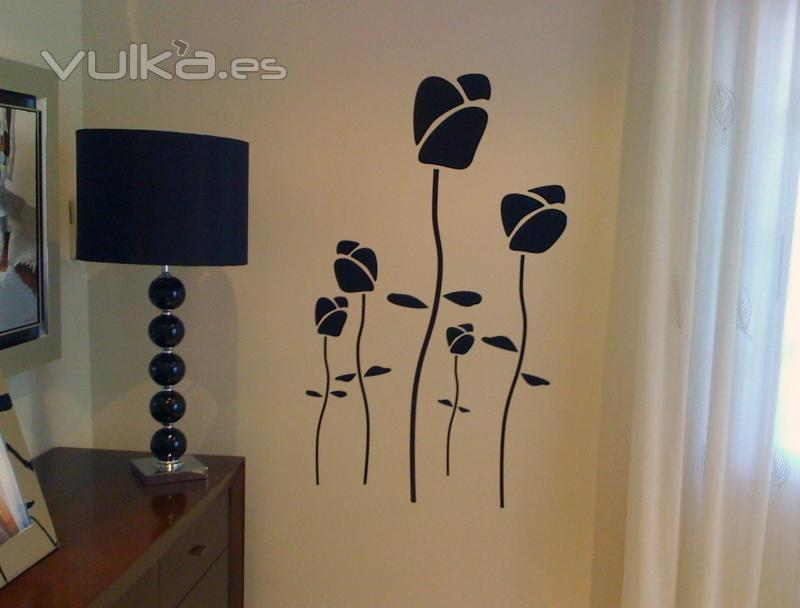 Vinilos decorativos para decoracion de interiores con - Paredes decorativas interiores ...