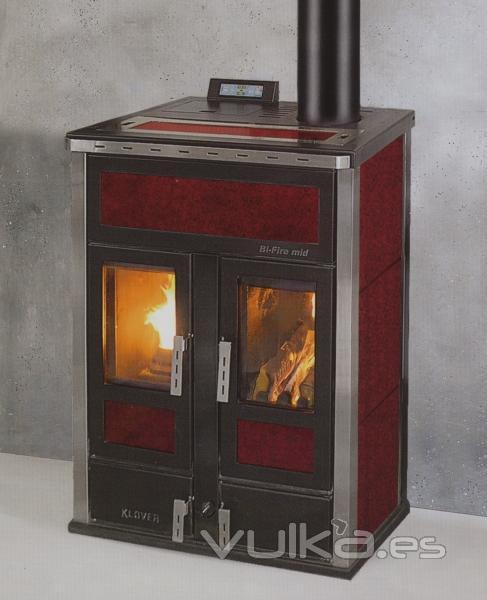 Foto estufa caldera a le a y pellets calefacci n central - Estufa de pellets y lena ...