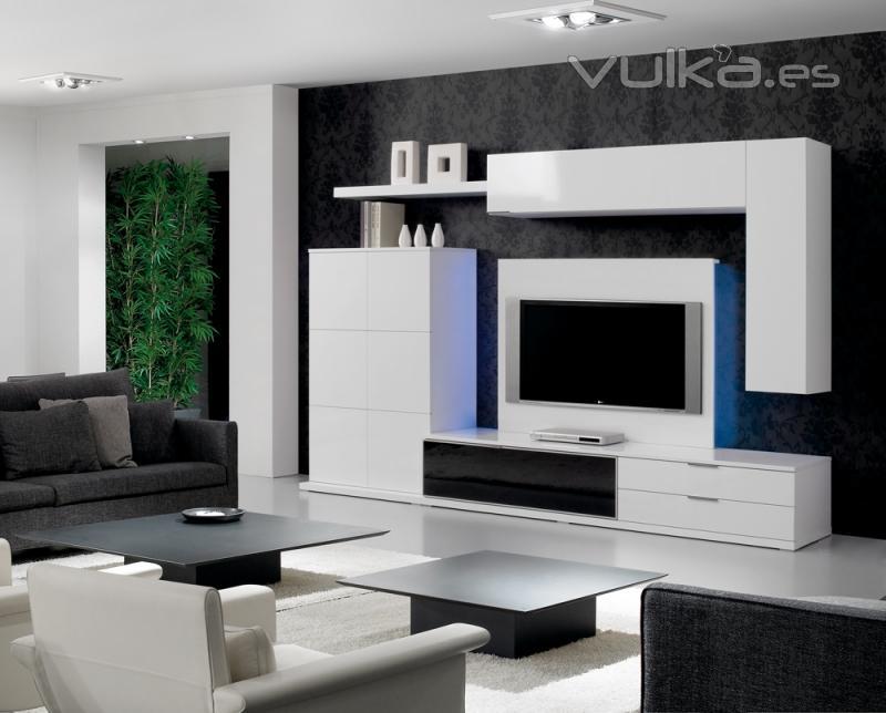 Comedor moderno minimalista rojo for Mueble tv minimalista