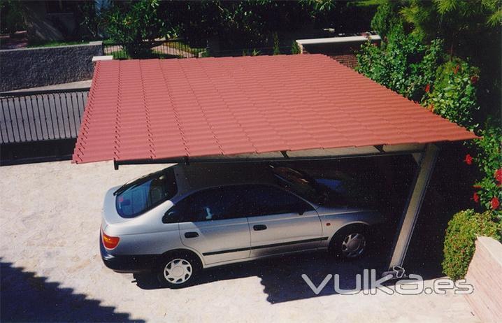 Foto parking con chapa imitacion teja for Placa imitacion teja
