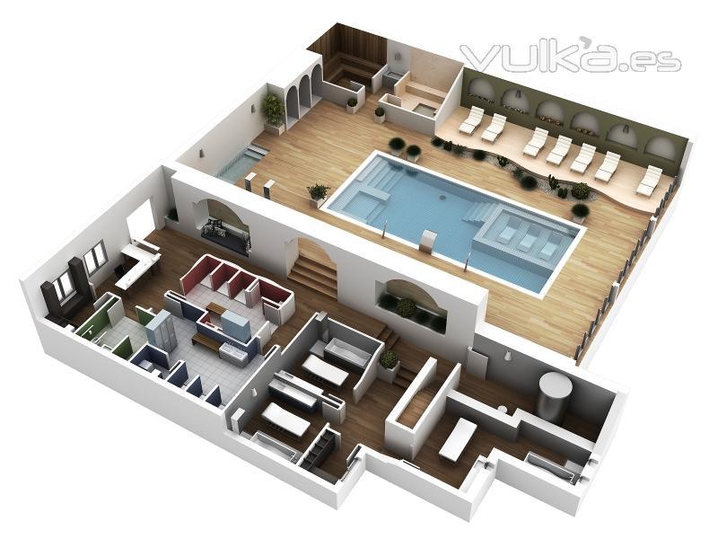Foto plano 3d for Planos de cocina en 3d