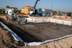 Losa cimentaci�n con impermeabilizaci�n de pvc y geotextil