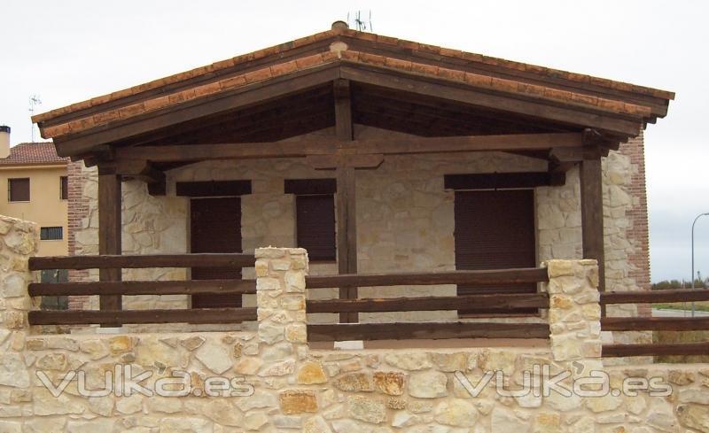 Casas de madera cenma s l - Fotos de casas de madera y piedra ...