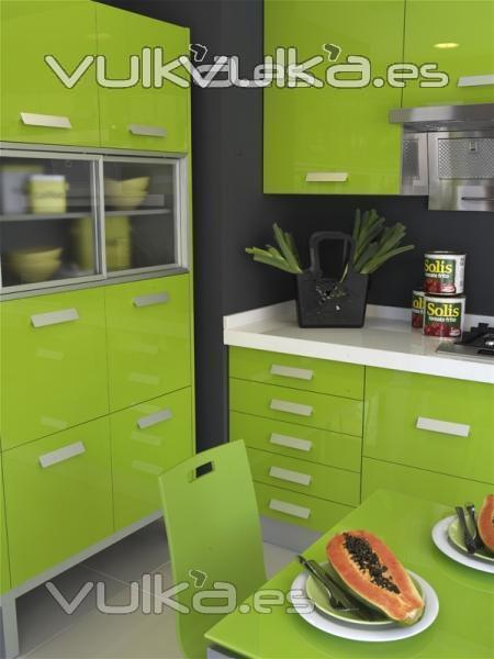 Foto Muebles de cocina Yelarsan Look Verde, Papaya