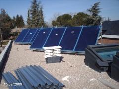 Instalación solar apoyo calefacción