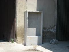 Hornacina de hormigon para dos plts.seccionamiento y medida.