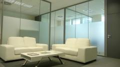 Mampara oficina Monovidrio Sistema de Divisiones, Ofival