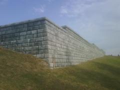 Muro de contención con bloque prefabricado de 1tn redi-rock