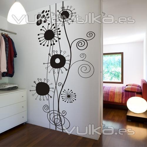 Foto vinilo decorativo floral - Vinilos decorativos en valencia ...