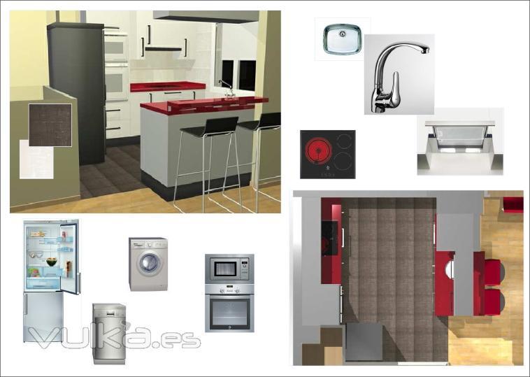 Foto cocina con todos sus electrodomesticos y pavimentos - Electrodomesticos profesionales cocina ...