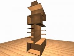 Parte frontal zona para libros, un dise�o a cuatro caras