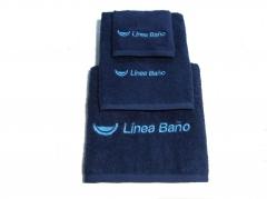 Toallas de rizo para el ba�o firmadas linea ba�o (azul marino)