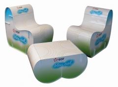 (modelo coffe table y chair) mobiliario para decoraci�n eventos, stand, promociones, actos corporativos, totalmente ...