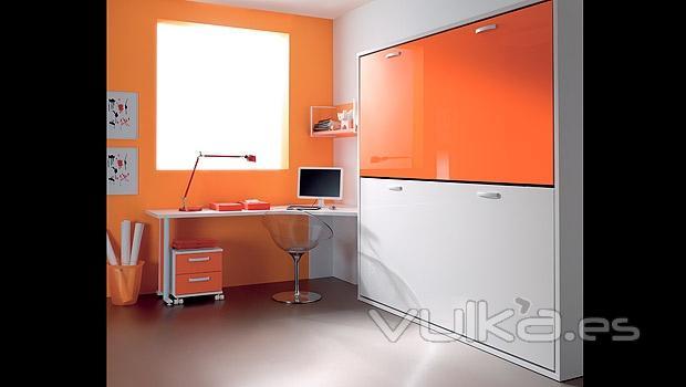 Foto dormitorio juvenil con doble cama abatible - Dormitorio juvenil doble cama ...
