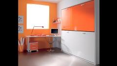 Dormitorio juvenil con doble cama abatible