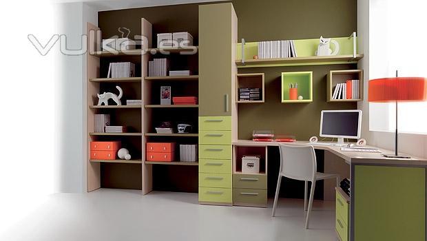 Foto dormitorio juvenil blogger estudio for Muebles de estudio modernos