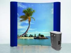 Muro, wall,  pop up, photocall, estructura portagráficas de grandes dimensiones, disponible en versión desplegable ...