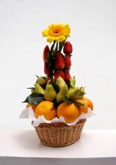 Cesta de frutas con dise�o vertical frutassonia