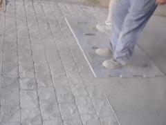 Pavimentando con hormigón impreso