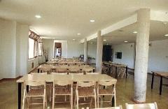 Comedor del albergue de turismo rural actio