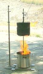 T � alcanzada es de 447,3 � c con la llama libre