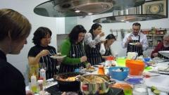 Uno de nuestros cursos de cocina