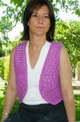 Chaleco crochet peace & love 19 eur