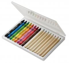 Estuches ceras y lápices de colores