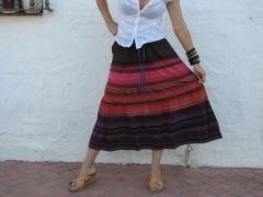 Falda multicolor talla unica