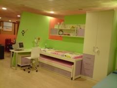 dormitorio juvenil blanco.Disponible en otros colores.