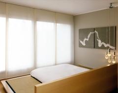 Panel japonés o deslizante en loneta natural. es una opción muy decorativa. diseñada especialmente para grandes ...