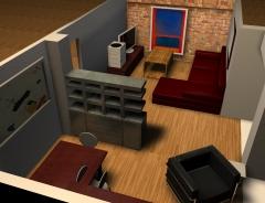 Mueble separador en formica