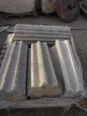 Rulos de piedra con estrias
