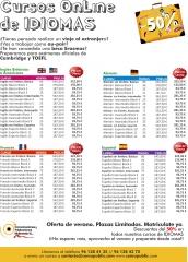 Cursos intensivos de idiomas (a mitad de precio) inglés, español, fránces y alemán