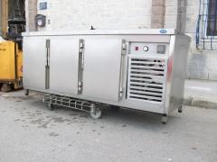 Bajo mostrador 200x70x85cm 3 puertas acero inoxidable int acero 359