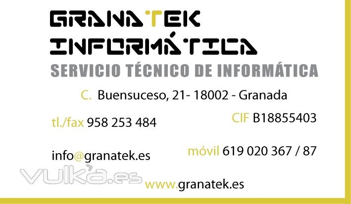 Granatek tu tienda y servicio tecnico informatico en Granada