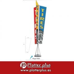 Banner automontable impreso en lona pl�stica