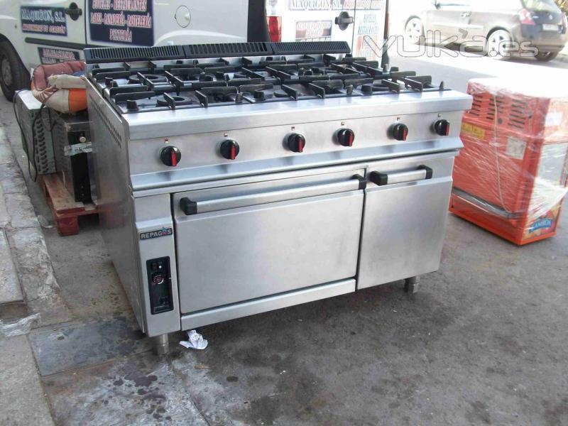 foto cocina 6 fuegos con horno repagas mod c96 101 3785