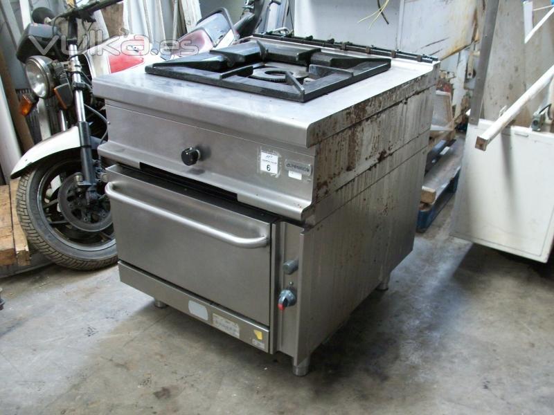 Foto cocina paellera 60x60cm 80x90x85cm con horno for Electrodomesticos industriales segunda mano
