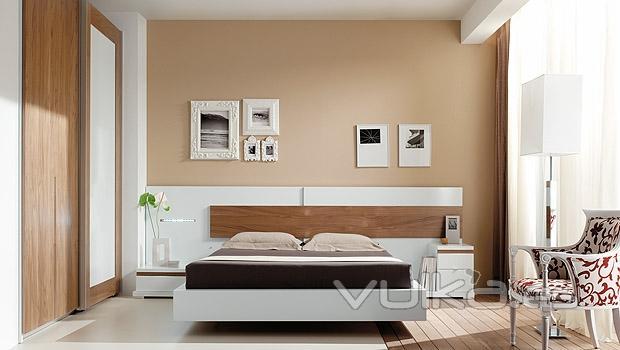 Foto dormitorio moderno con armario mixto lacado blanco - Armario dormitorio blanco ...