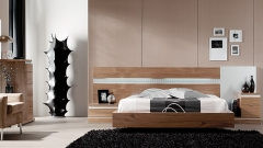 Mueble moderno en chapa natural color nogal