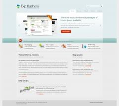 Sitio web personalizado con colores degradados